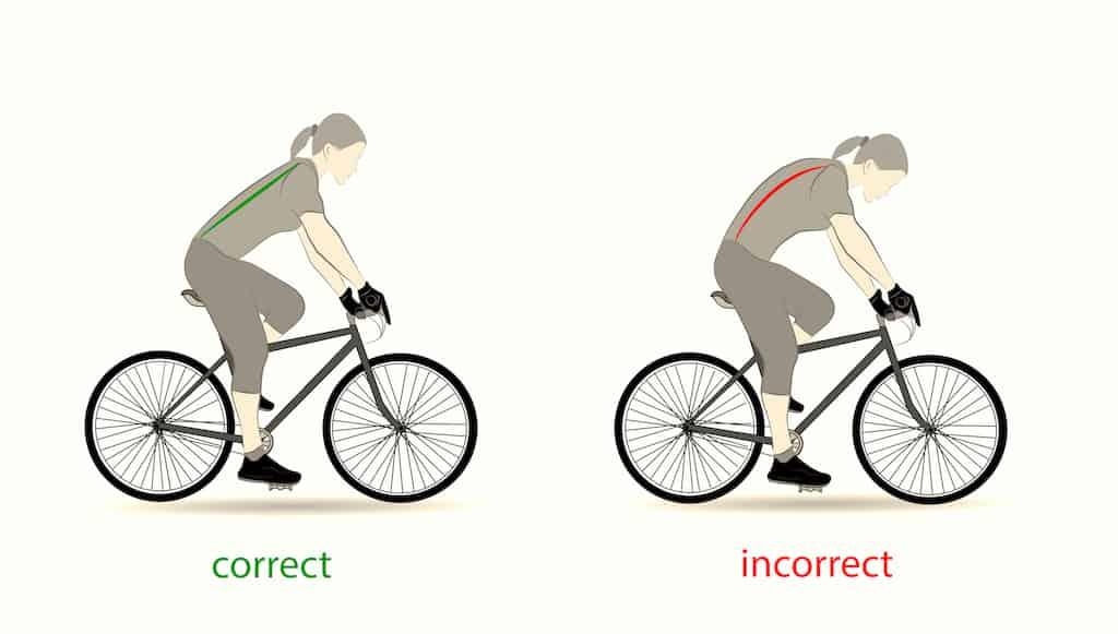 Korrekte E Bike Haltung